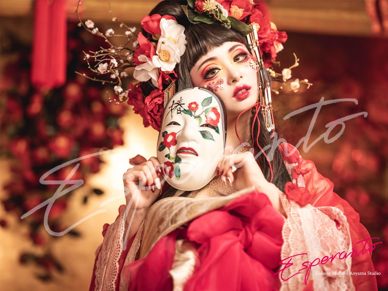 変身写真,着物,椿雪姫
