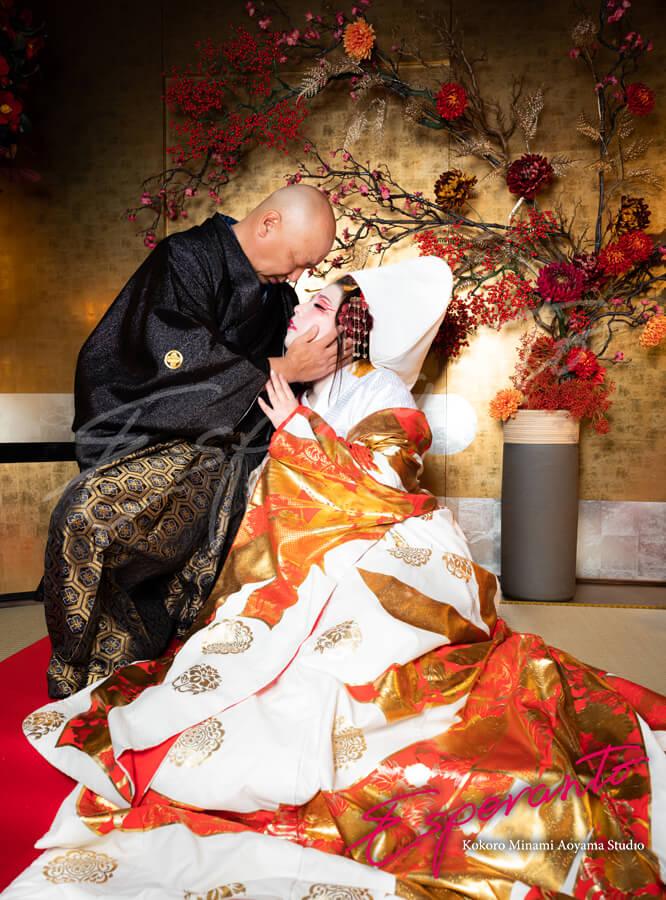 変身写真 花魁体験 狐の嫁入り カップル