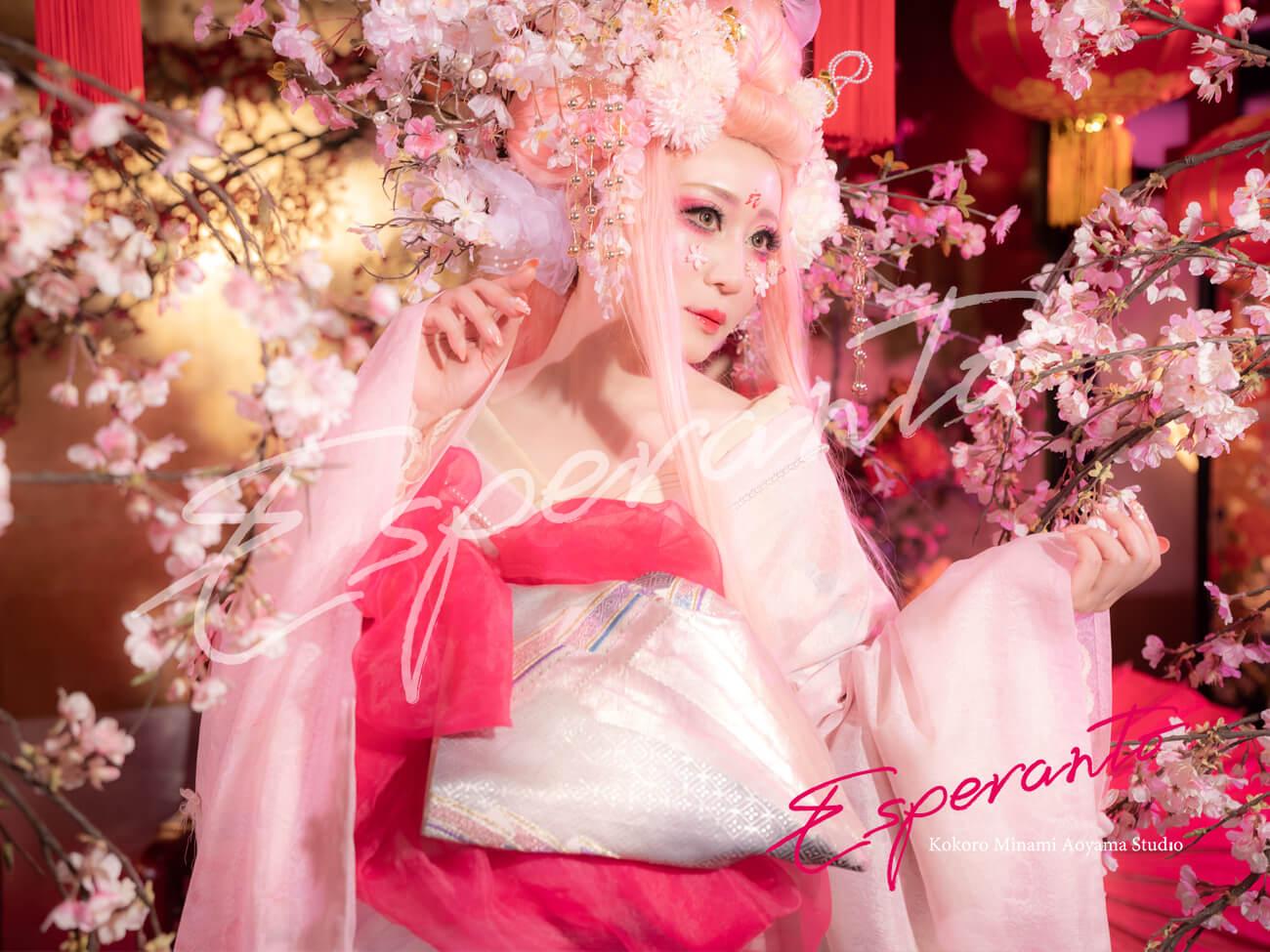 着物 変身写真 桜樂姫