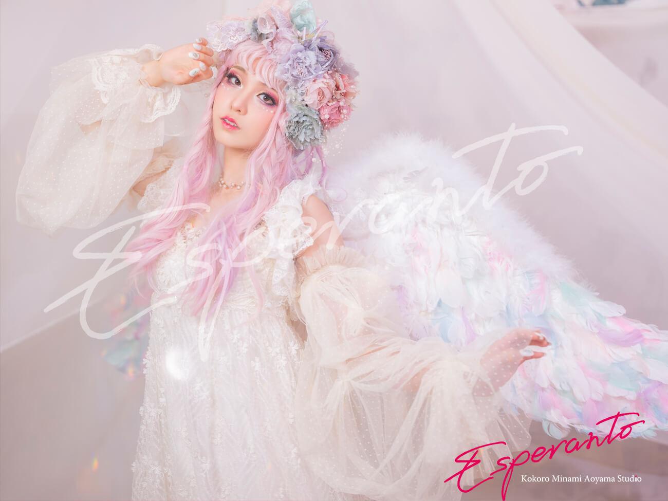 ドレス 天使 変身写真