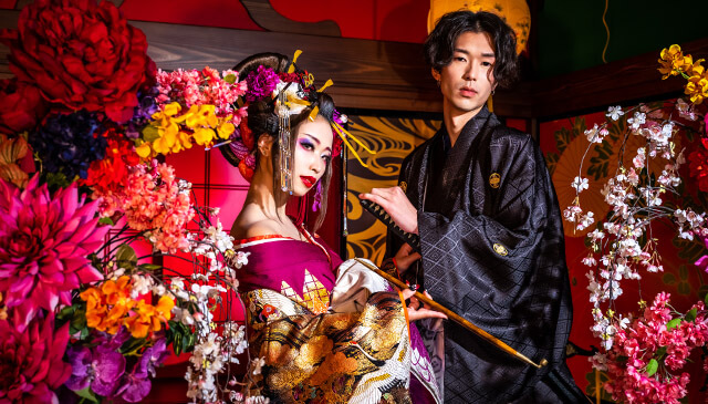 Oiran couple photo